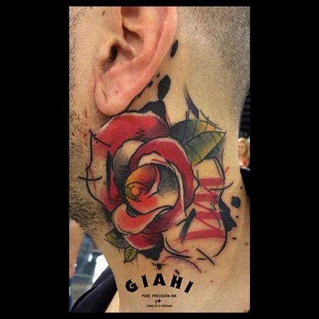 Trash Polka Rose Tattoo