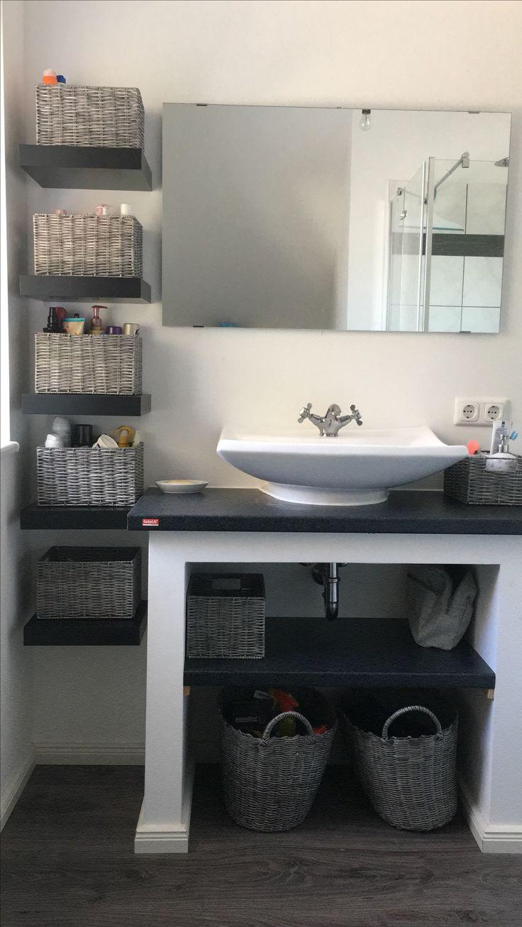 Homemade Bathroom Shelf Bathroom Ideas Badezimmer Regal Kleines Bad Dekorieren Badezimmer