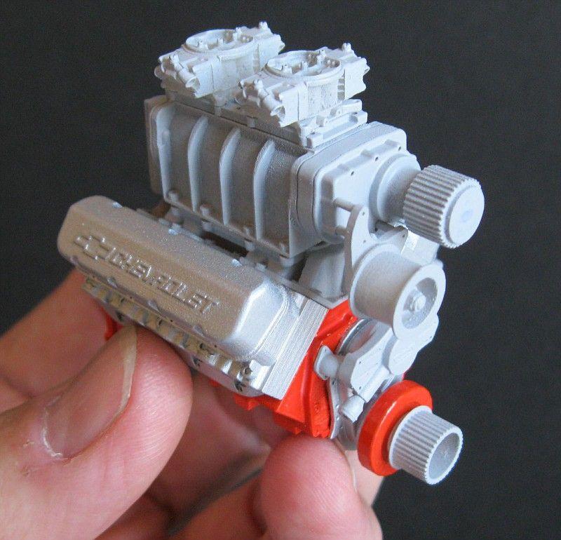 BBC 'LongBlock' Engine (with fuel pump) 1/16 Miniature