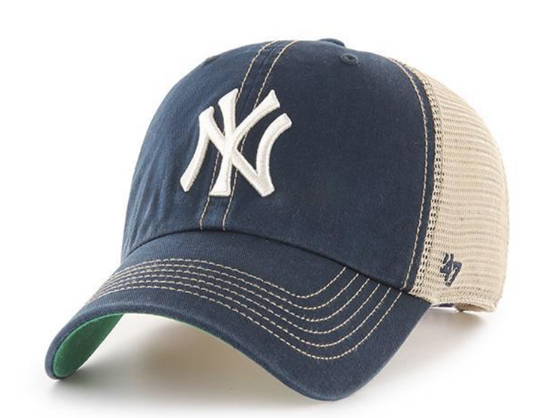 Men S New York Yankees Trawler Adjustable Trucker Hat By 47 Brand Bones De Beisebol Bone Masculino Bone New York