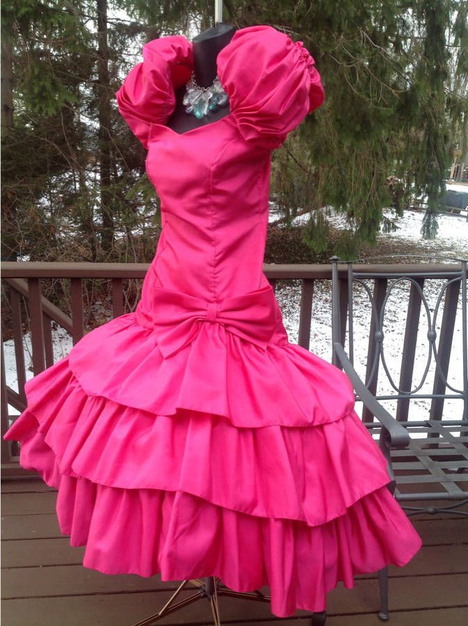 755eab519b946 VINTAGE 80s HOT PINK TOTAL WILD CHILD PROM PARTY DRESS BEST IN SHOW S FR  SALE NOW COME IN AND SEE US