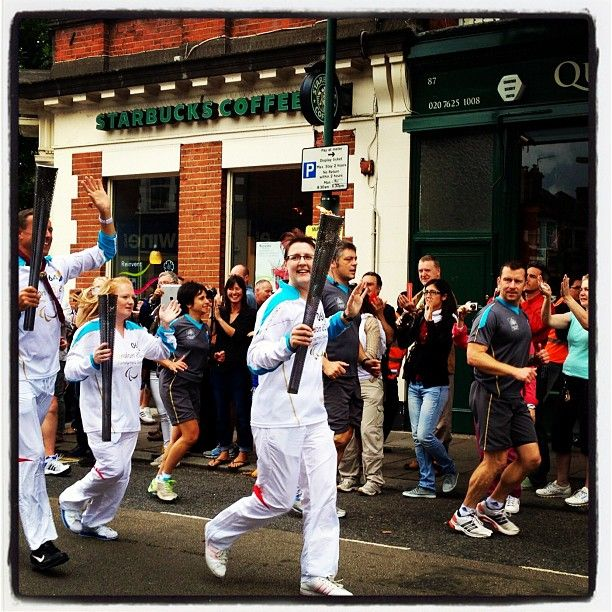 #Paralympics torch passing through London NW6