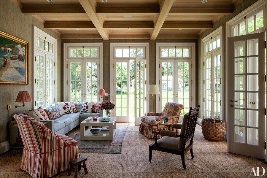 A Colonial Revival Residence In California Provides The Perfect Homebase For A Young Family Family Room Residential Architecture Architectural Digest