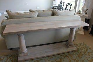 restoration hardware diy console table my house blog diy sofa rh pinterest com