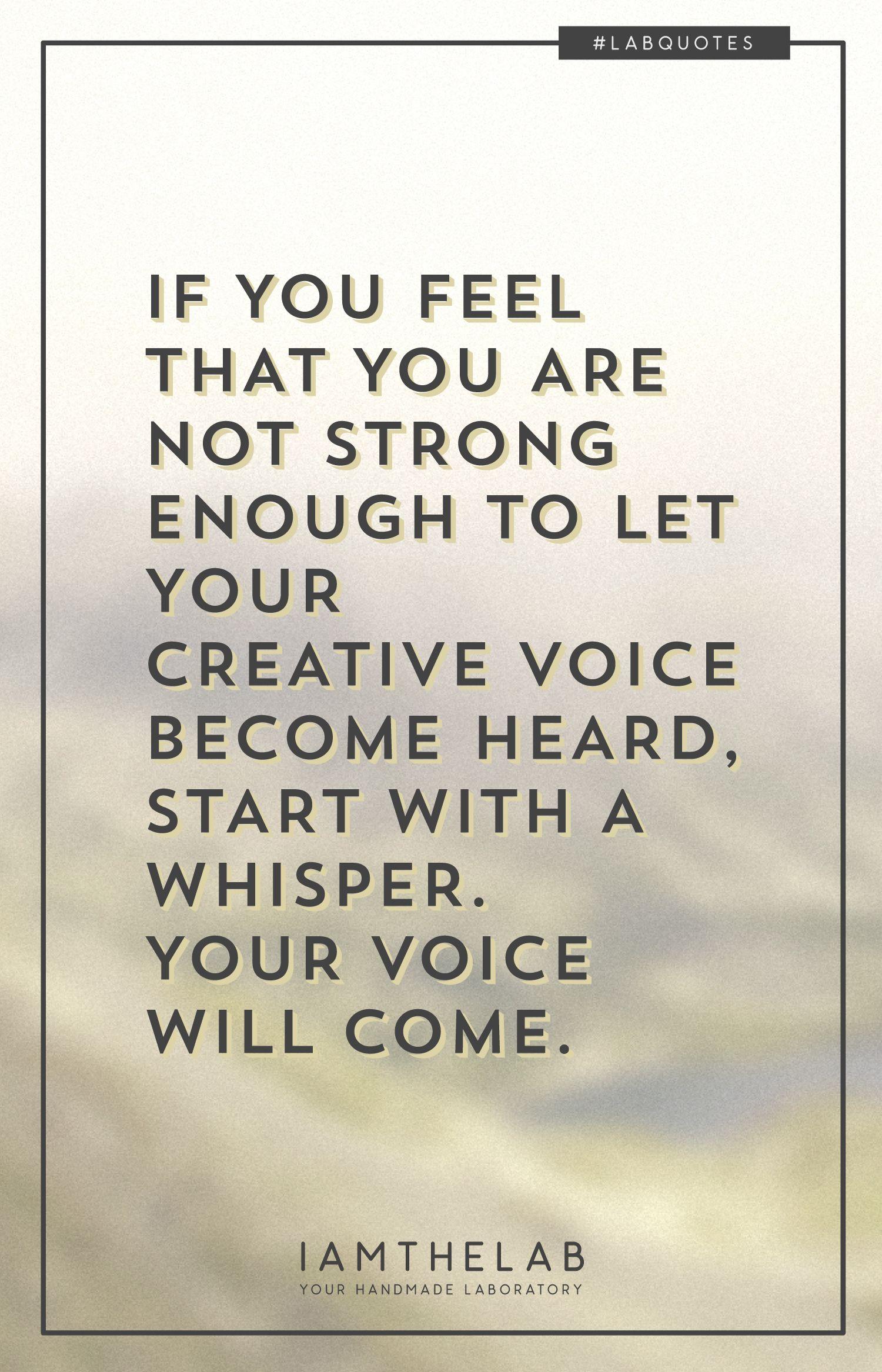 Labquotes 001 Find Your Voice Quotes Motivation Lab Get