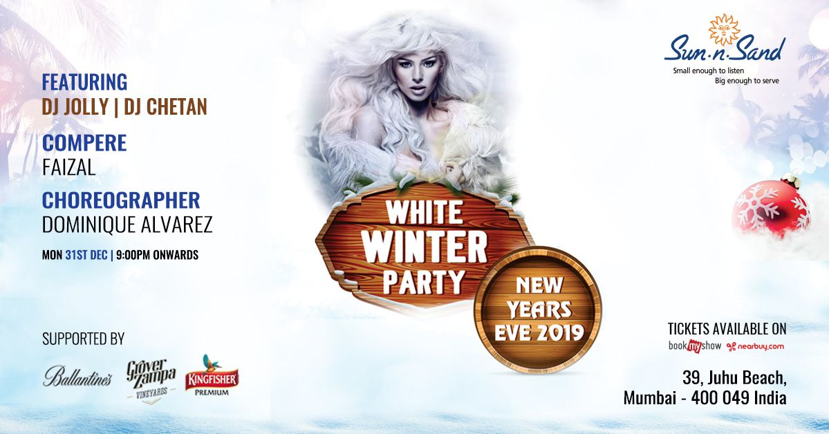 White Winter Party New Year S Eve Bash Winter Party New Year S Eve 2019 New Years Eve