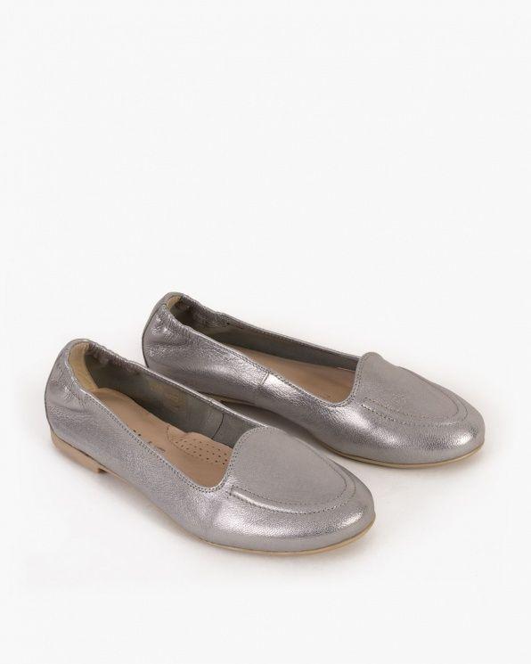 Baleriny 061 3741 Srebro Chanel Ballet Flats Ballet Flats Loafers