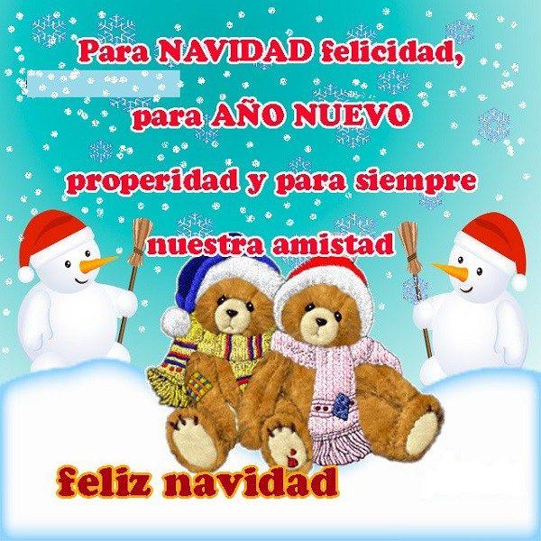 Carta De Felicitaciones De Navidad Y Ano Nuevo.Imagenes De Ositos Y Munecos De Nieve Para Felicitar En