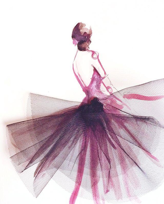 Tutú - fashion illustration
