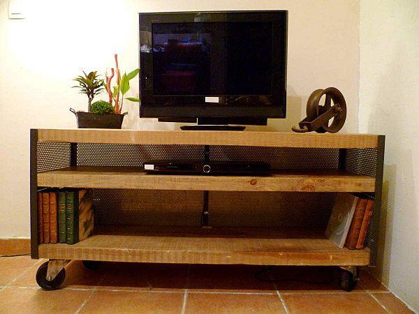 meuble tv a roulettes atelier