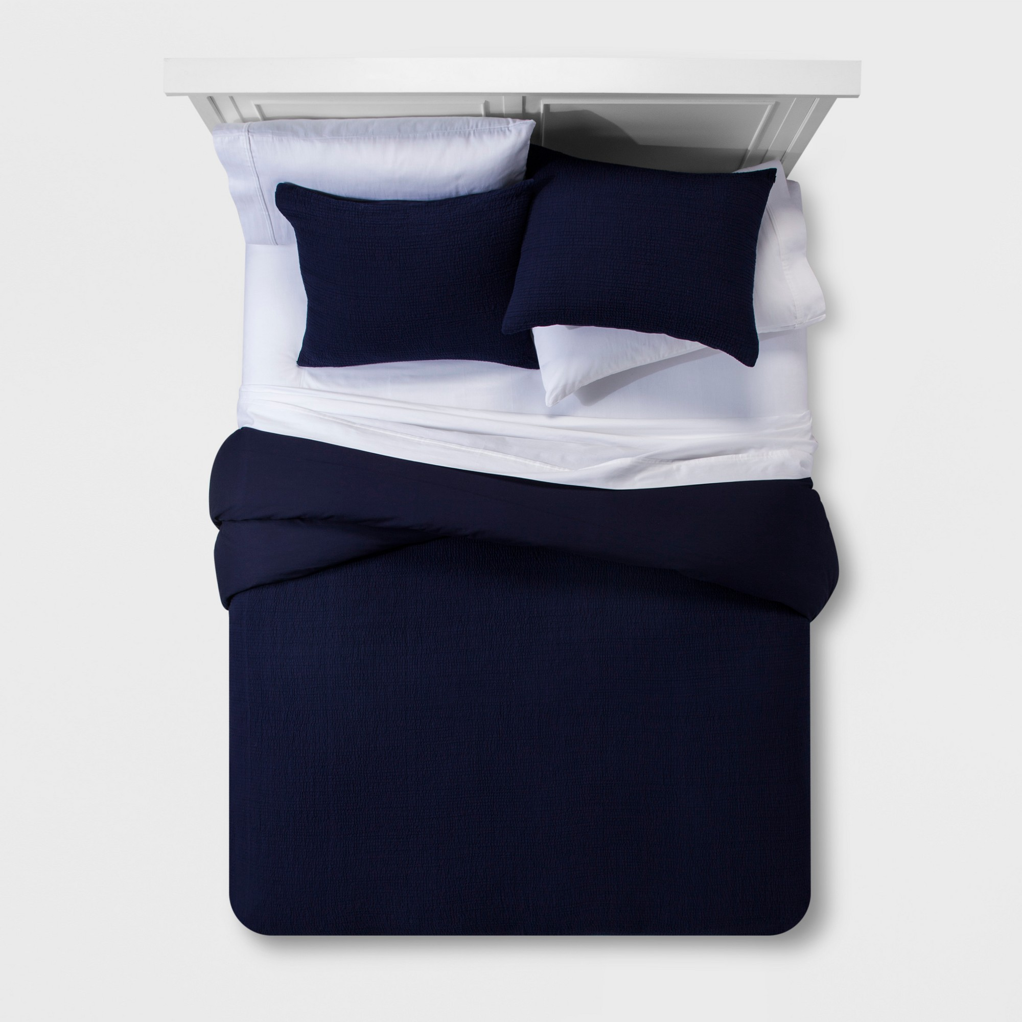 Navy Micro Texture Duvet Cover Set Full Queen Project 62