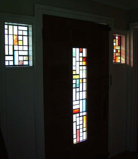 Contemporary Stained Glass Front Door Surrey By Abinger Stained Glass Stained Glass Door Contemporary Front Doors Glass Front Door