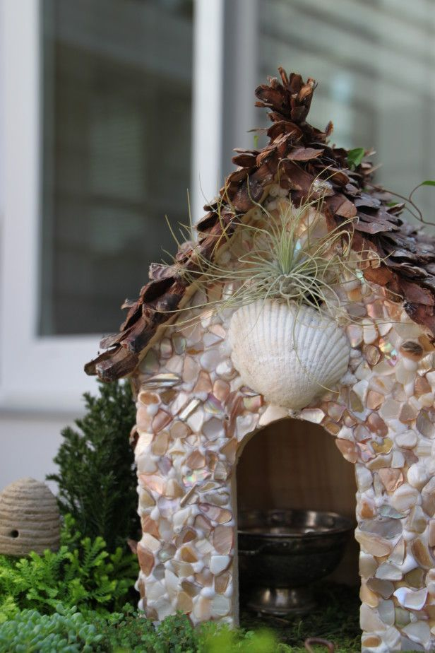 Hand Cast /& Hand Finished for your Fairy Garden Stone Fairy Door Arched Design with Free Bottle of Magical Dust