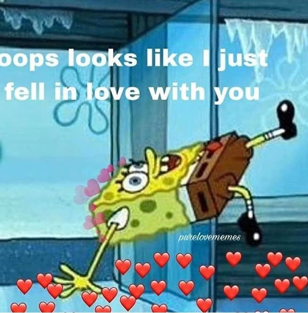 Oops feelings feelinlove spongebob america like mood