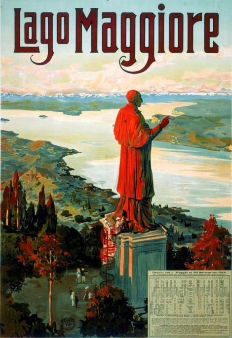 Arona San Carlone Lago Maggiore Statua Verbano Vergante - Il San Carlone in un orario del 1914.