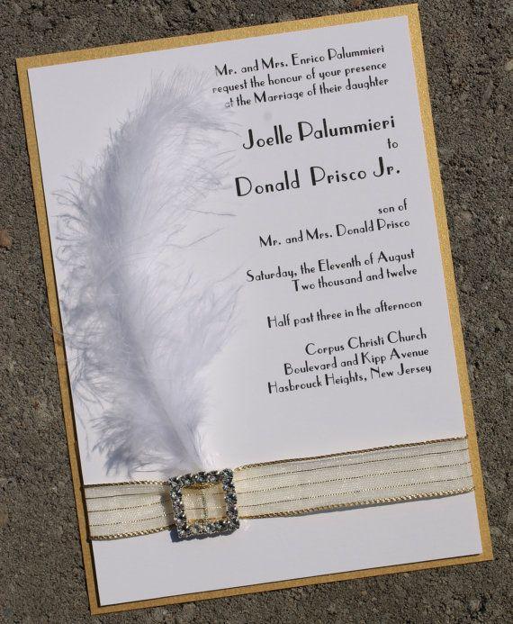 Roaring 20 S Inspired Wedding Invitation