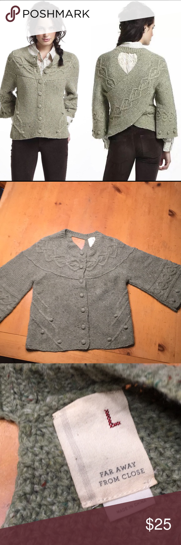 Anthropologie Far Away From Close Cardigan Sweater in 2020