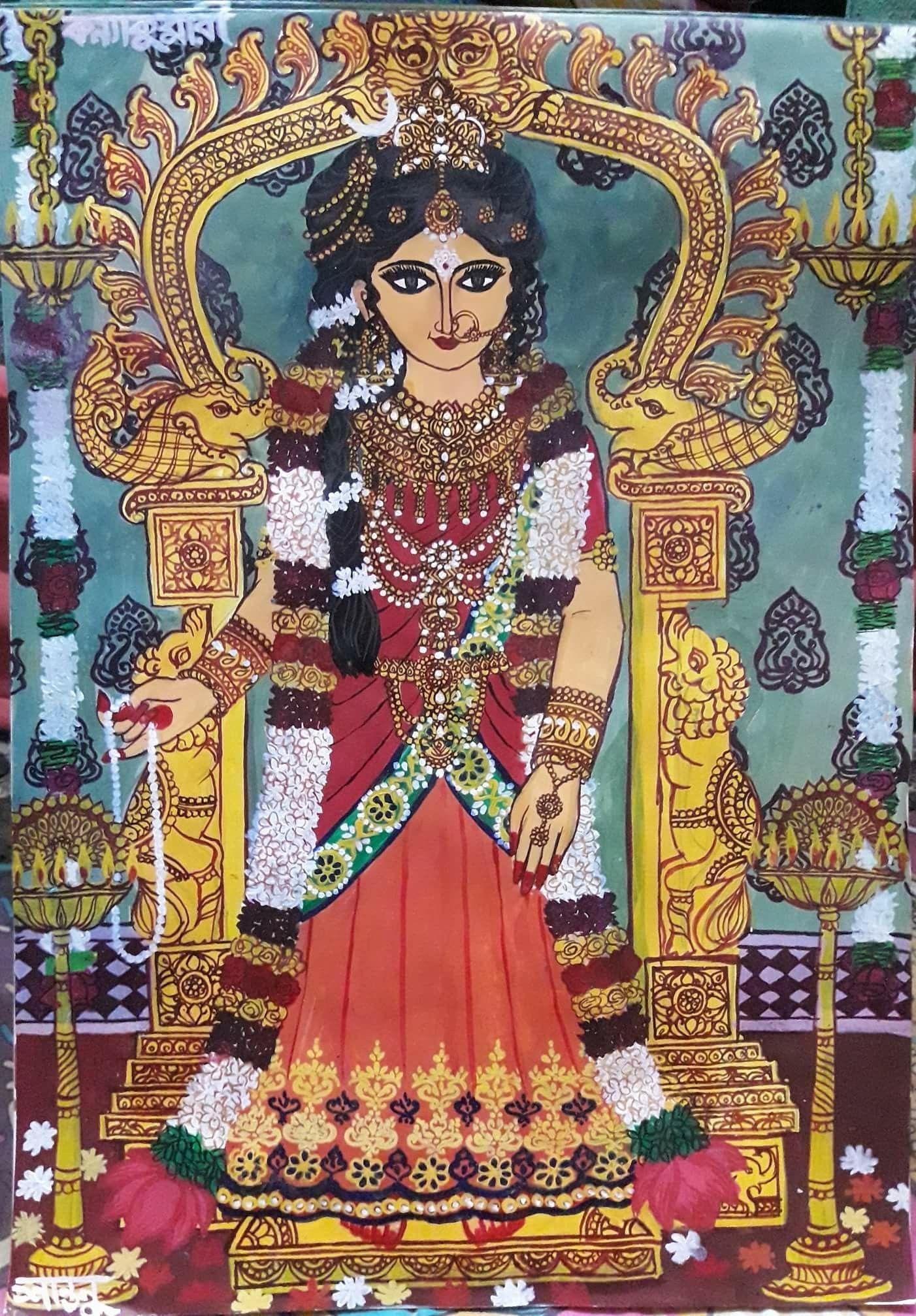Devi Kanyakumari Art By Santanu Das Adhikari From His