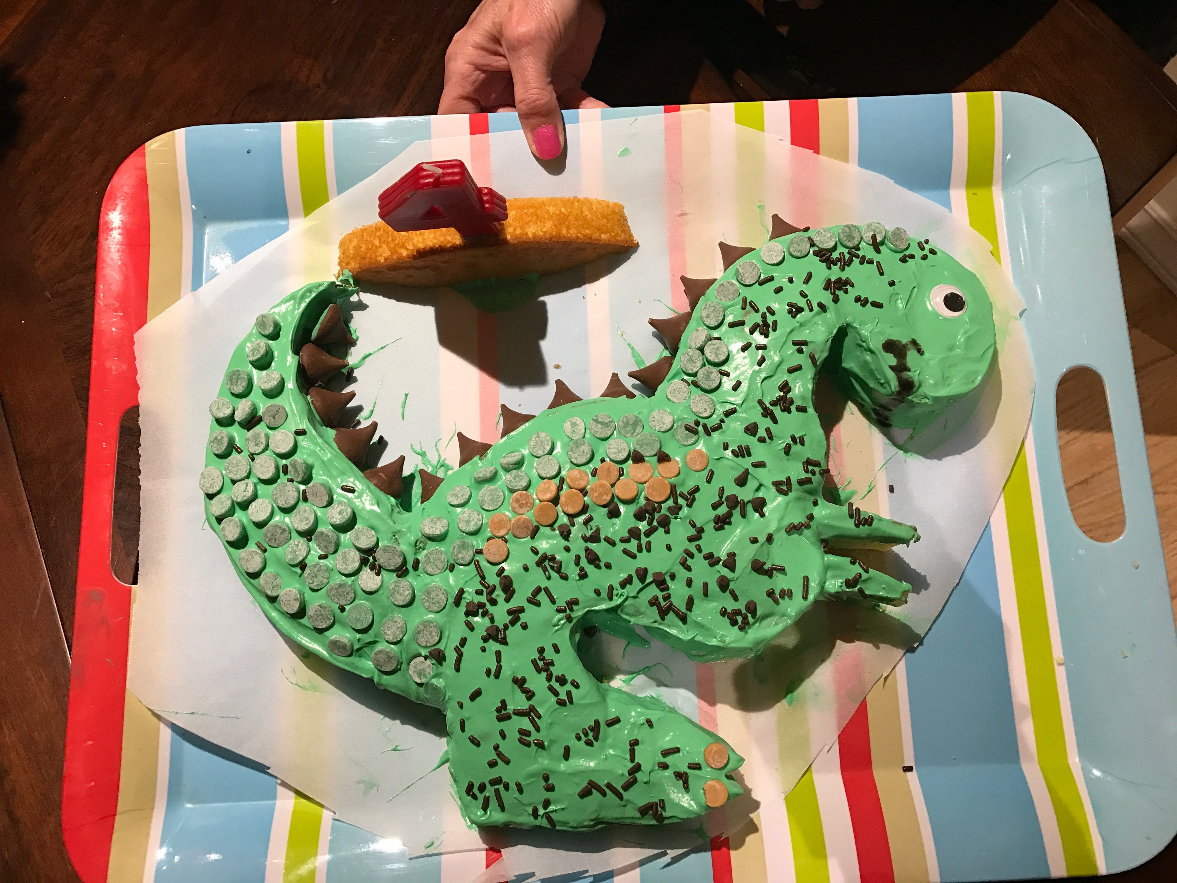 Our T-Rex cake!
