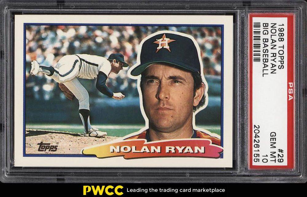 1988 topps big baseball nolan ryan 29 psa 10 gem mint