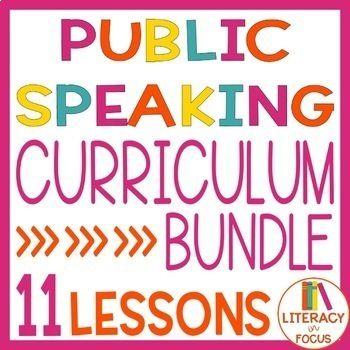 Public Speaking Resume | Public Speaking Curriculum Bundle Bundles Pinterest Public