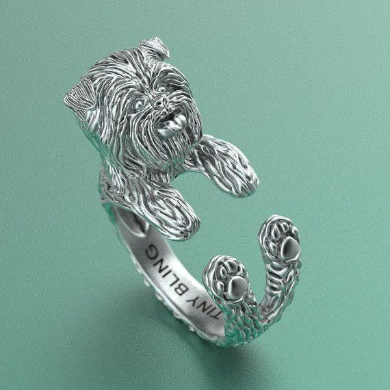 Affenpinscher Breed Jewelry Cuddle Wrap Ring