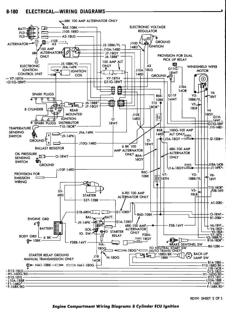 1986 Dodge D150 Wiring Diagrams