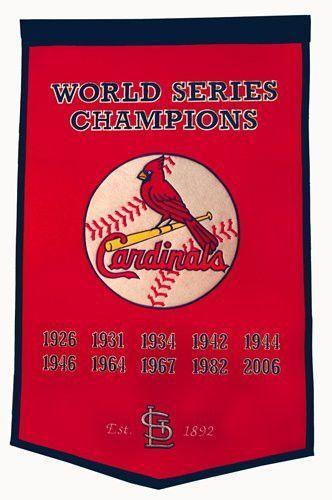 "St. Louis Cardinals Winning Streak Genuine Wool Dynasty Banner (24""x36"")"