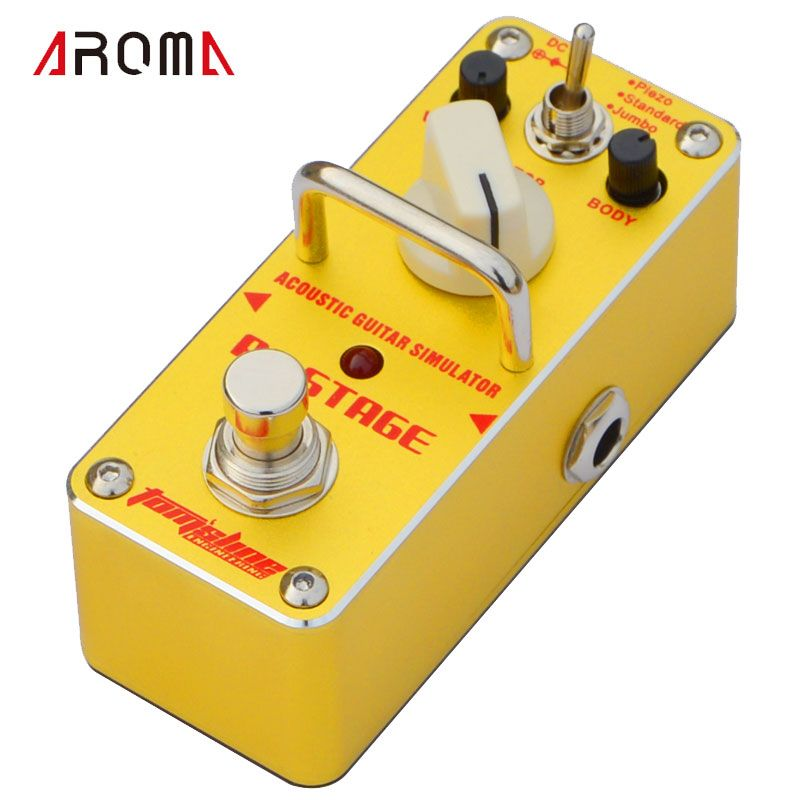 Aroma Aas 3 Ac Stage Acoustic Guitar Simulator Mini Single Electric Guitar Effect Pedal With True Bypass Guitar Effects Pedals Acoustic Guitar Guitar Effects