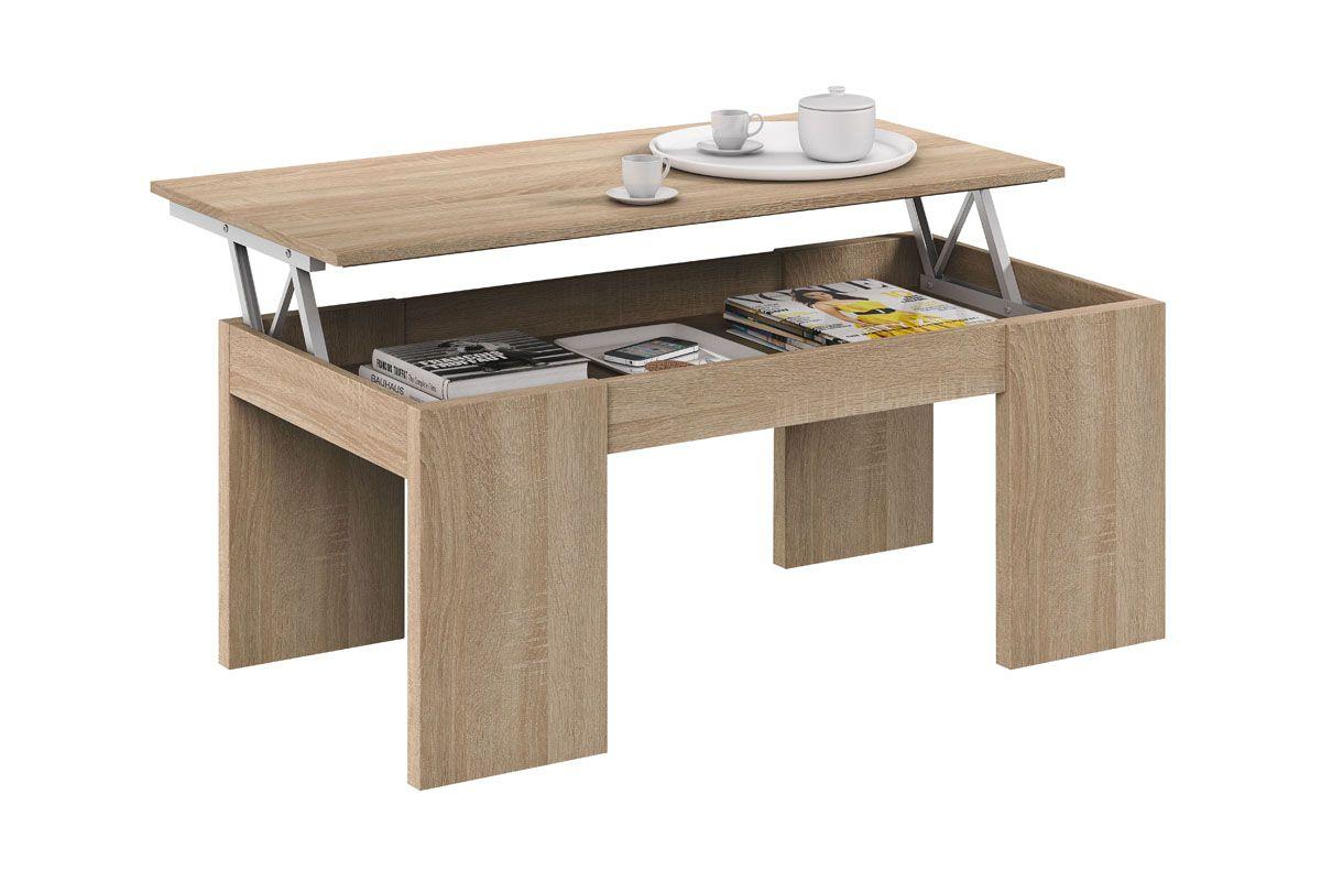 Table basse imitation ch ne table basse relevable table - Table basse relevable extensible conforama ...