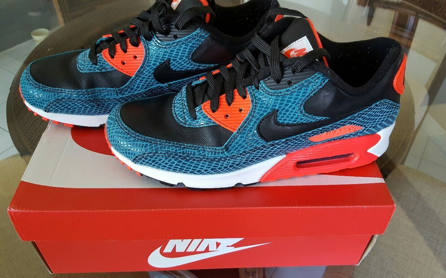 45519001905a Nike Air Max 90 Anniversary Mens size 9 Dusty Cactus Black Infrared 725235  300