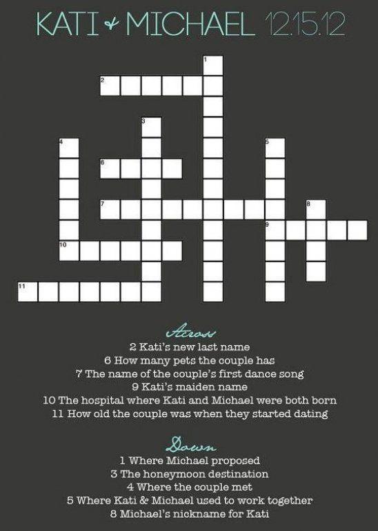 Ein Hochzeit Oder Brautpaar Kreuzwortr Tzel Ist Auch Einen Kreative Idee F R Einen Hochzeits In 2020 Wedding Newspaper Wedding Crossword Puzzle Wedding Entertainment