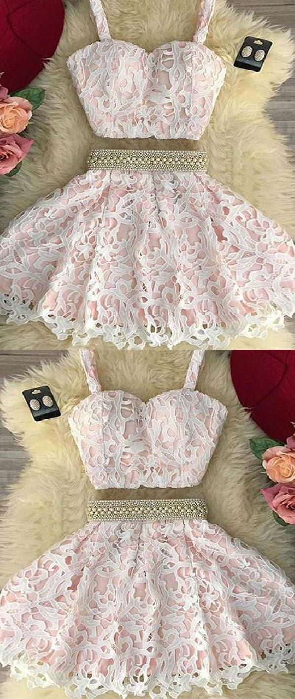 Custom made morden pink prom dresses prom dresses lace cute prom