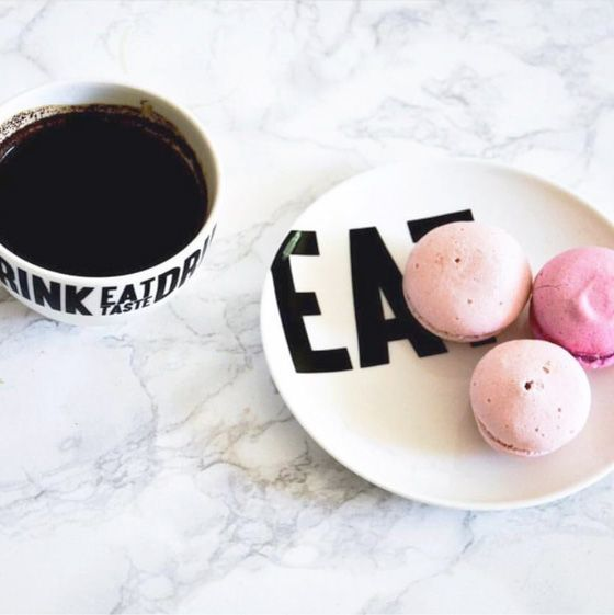 Another great styleshot by @golf.co of the eat.drink.taste design we worked on.  #eat #macaroons #drink #tea #foodphotography #dessert #ceramics #homewares
