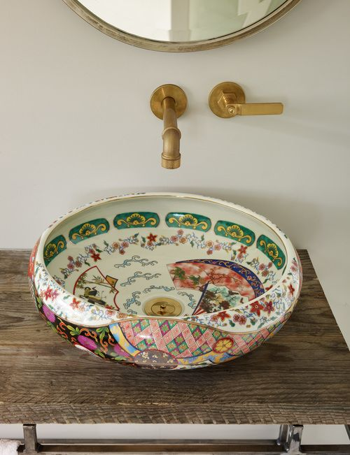 The London Basin Company Printed Patterned Sink Bathroom Decor