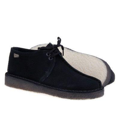 CLARKS DESERT TREK SUEDE BLACK | Clarks, Black, Boots