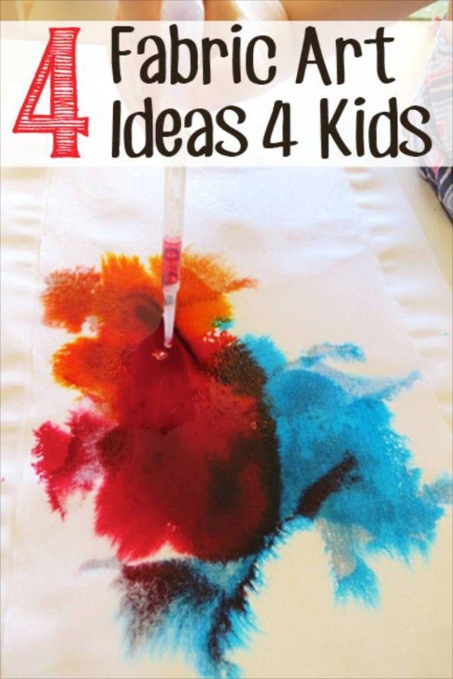 Four Fabric Art Ideas For Kids