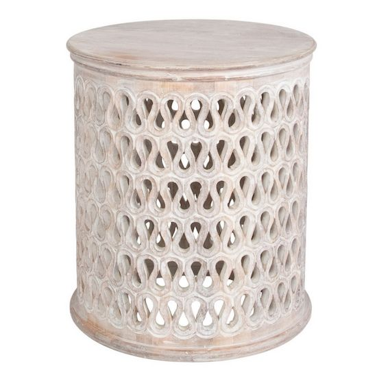 Noor Accent Table White Round Side Table Round End Tables Table