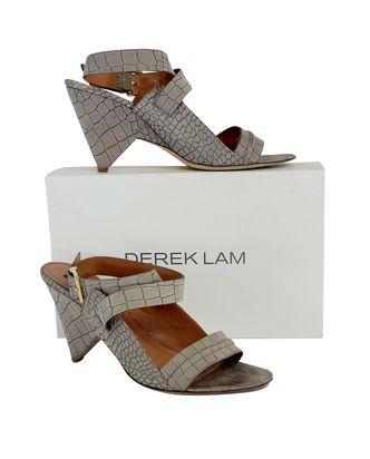 Derek Lam Grey Sandstone Leather Sandal Heels