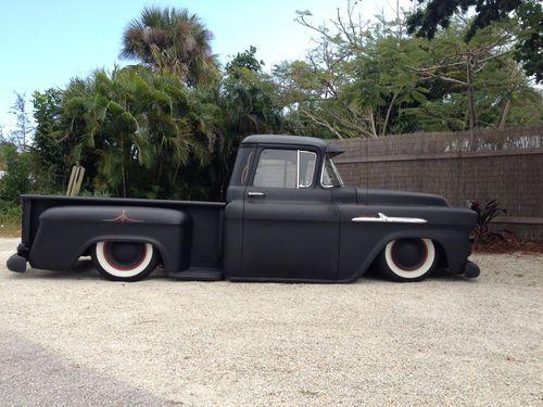 1958 Chevy Apache Rat Rod Truck Slammed Goodness And Badassedness Rat Rod Chevy Apache Trucks