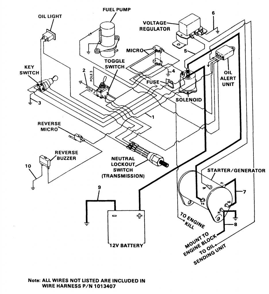 Ezgo Golf Cart Wiring Diagram With 1987 Ez Go Gooddy Org ...