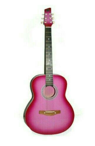 That pink guitar
