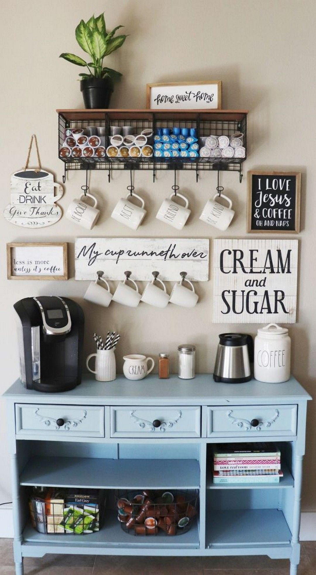 Coffee Station Ideas for Your Morning Buzz #coffeebarideas