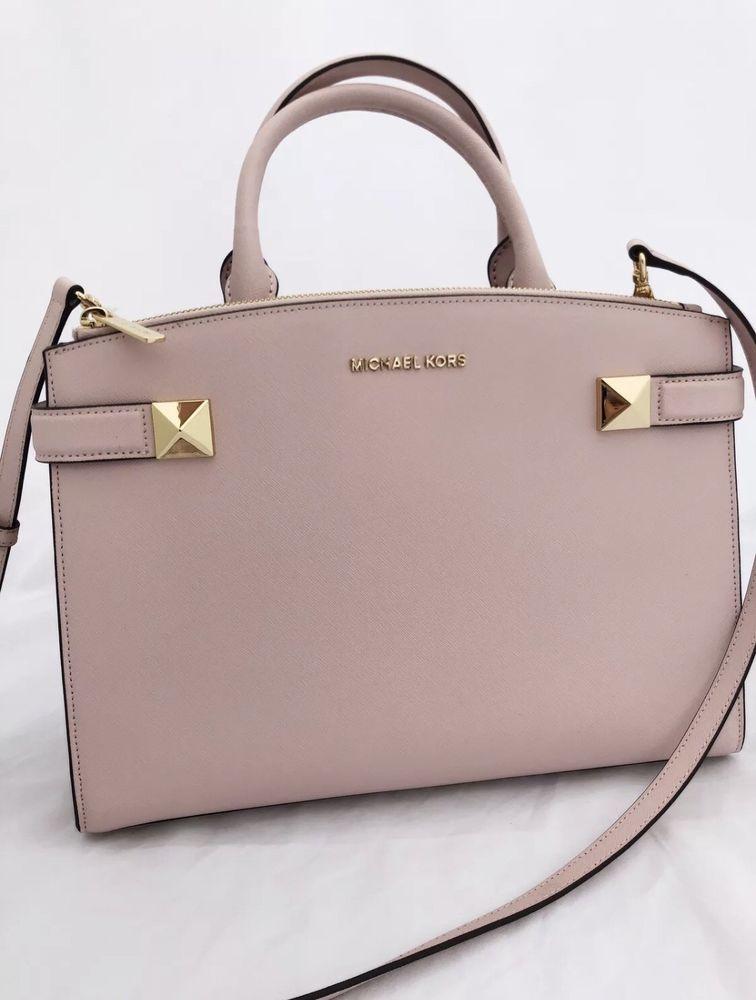 Michael Kors Karla East West Medium Satchel Bag Blossom Pink