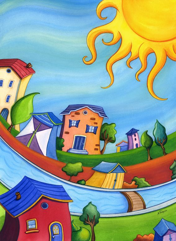 Sunny+houses+by+eikasma.deviantart.com+on+@deviantART