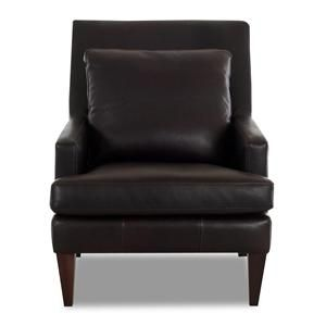 Sleek Leather Chair For The Transitional Bedroom Sheelysfurniture