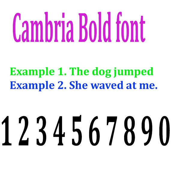 Cambria font style 1 5