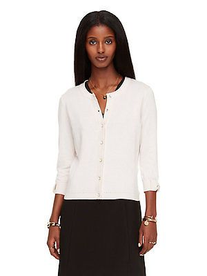 KATE SPADE Cream SOMERSET Cotton Cashmere Cardigan Sweater Top Bow Sleeves S https://t.co/IoUhWqBxXx https://t.co/8CKkhEcqfH
