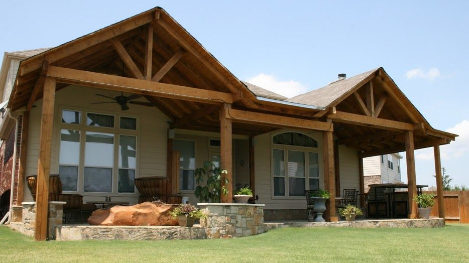 Double Gable Patio Cover By Hometown Decking In Austin, Tx