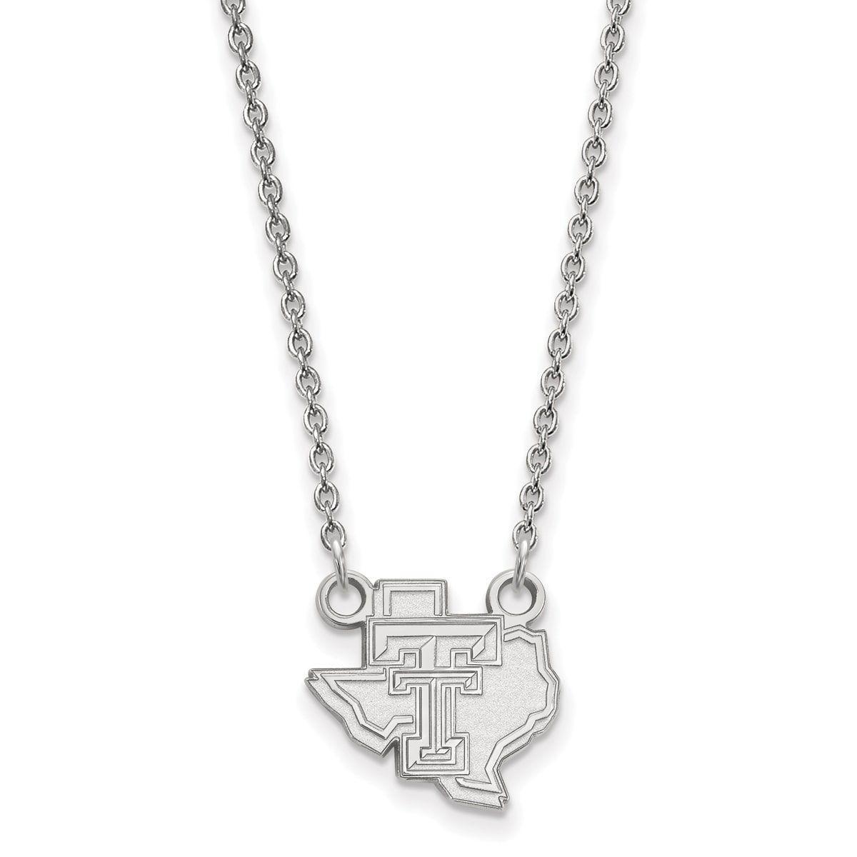 14kw LogoArt Texas Tech University Small Pendant with Necklace